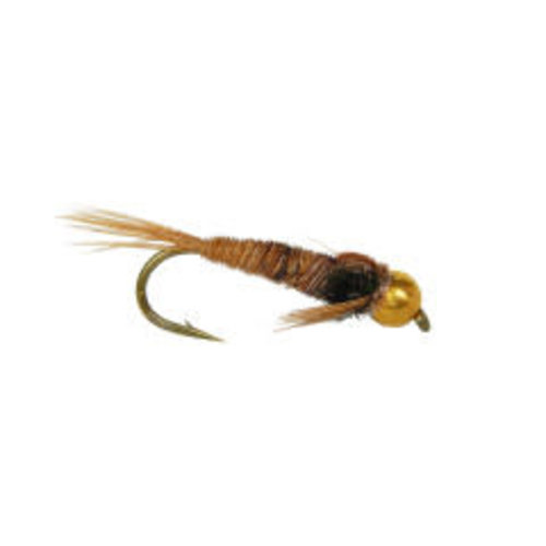Pheasant Tail Gold Bead