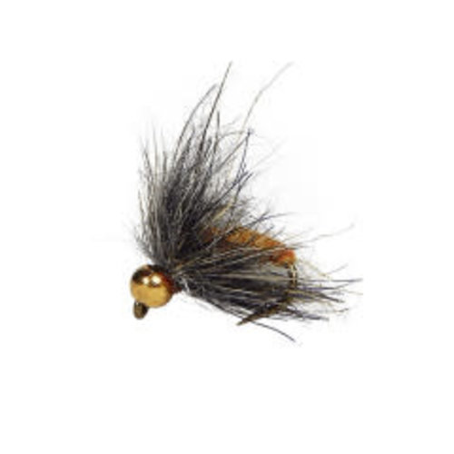 Holly Flies MH Hydropyche Orange Caddis Larva with Brass Bead