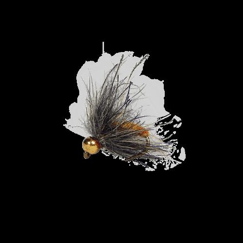 Holly Flies MH Hydropyche Orange Caddis Larva with Brass Bead