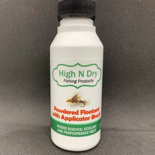 High N Dry Fishing Products High N Dry Powdered Floatant with Applicator Brush