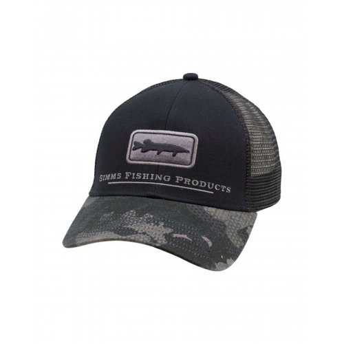 Simms Fishing Products Simms Musky Icon Trucker Hat - Hex Flo Camo Carbon
