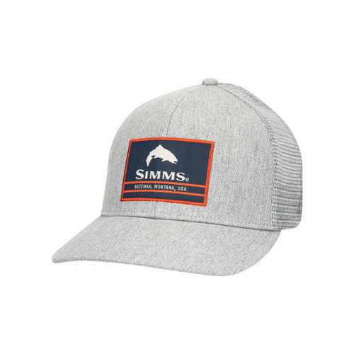 Simms Fishing Products Simms Original Patch Trucker Hat - Heather Grey