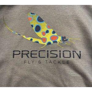 "Precision Fly Fishing Precision Fly Fishing Sweatshirt ""Mayfly"" Logo"