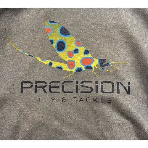 "Precision Fly Fishing Precision Fly Fishing Sweatshirt ""Mayfly"" Logo"