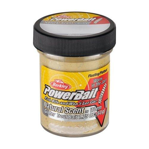 Berkley Berkley PowerBait Natural Glitter Trout Bait Worm Tequila 'n Salt