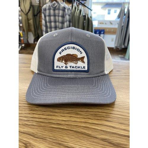 Precision Fly Fishing Precision Smallmouth Grey/White Trucker Hat