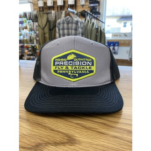 Precision Fly Fishing Precision Green Fly Patch Grey/Black Trucker Hat
