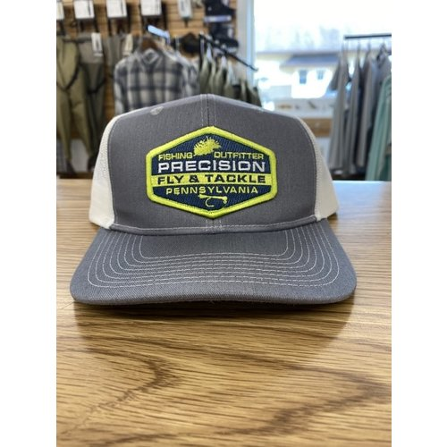 Precision Fly Fishing Precision Green Fly Patch Grey/White Trucker Hat