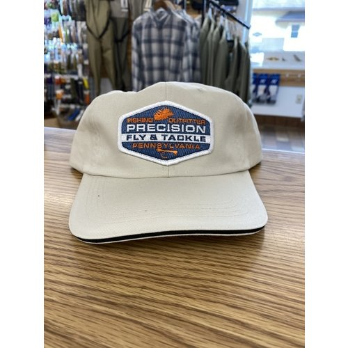 Precision Fly Fishing Precision Orange Fly Patch Unstructured Khaki Hat