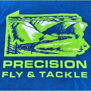 Precision Fly Fishing Precision PA Turquoise Fleck Keystone Tee