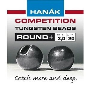 Hanak Hanak Round+ Slotted Tungsten Beads