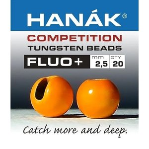 Hanak Hanak Fluo+ Slotted Tungsten Beads