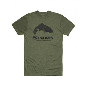 Simms Fishing Products M's Wood Trout Fill T-Shirt