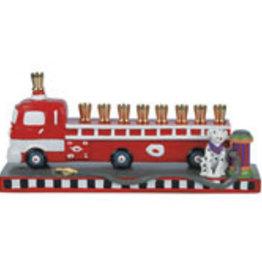 Menorah, Fire Truck, Ceramic