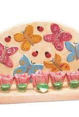 Menorah, Rosebud and Butterfly