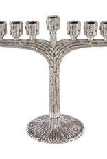 Menorah, Silver with Crystals