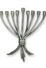 Menorah, art deco silver