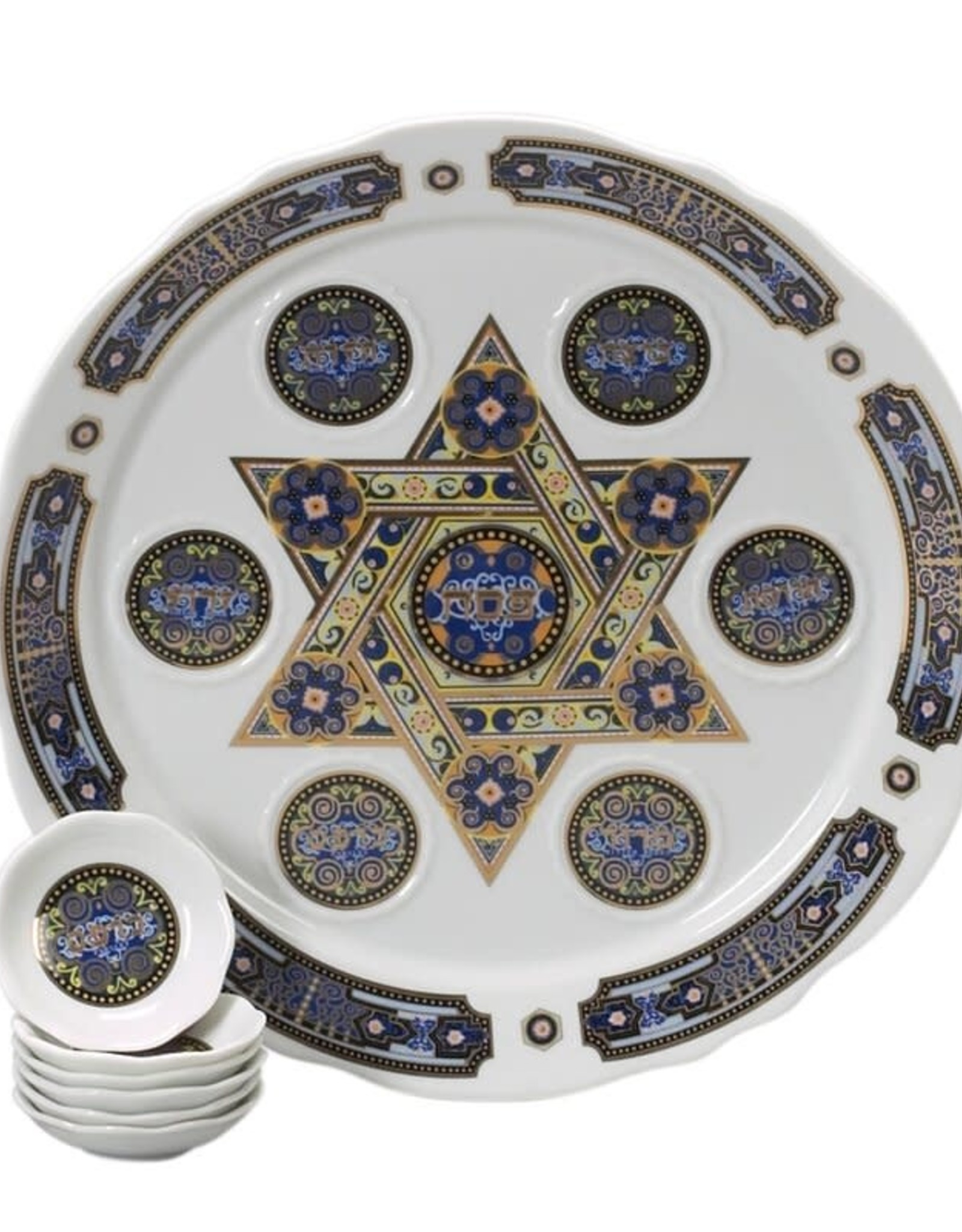 Seder plate, multi star/dishes
