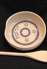 Charoset Bowl w/ Spoon-Traditional Blue 2 pc