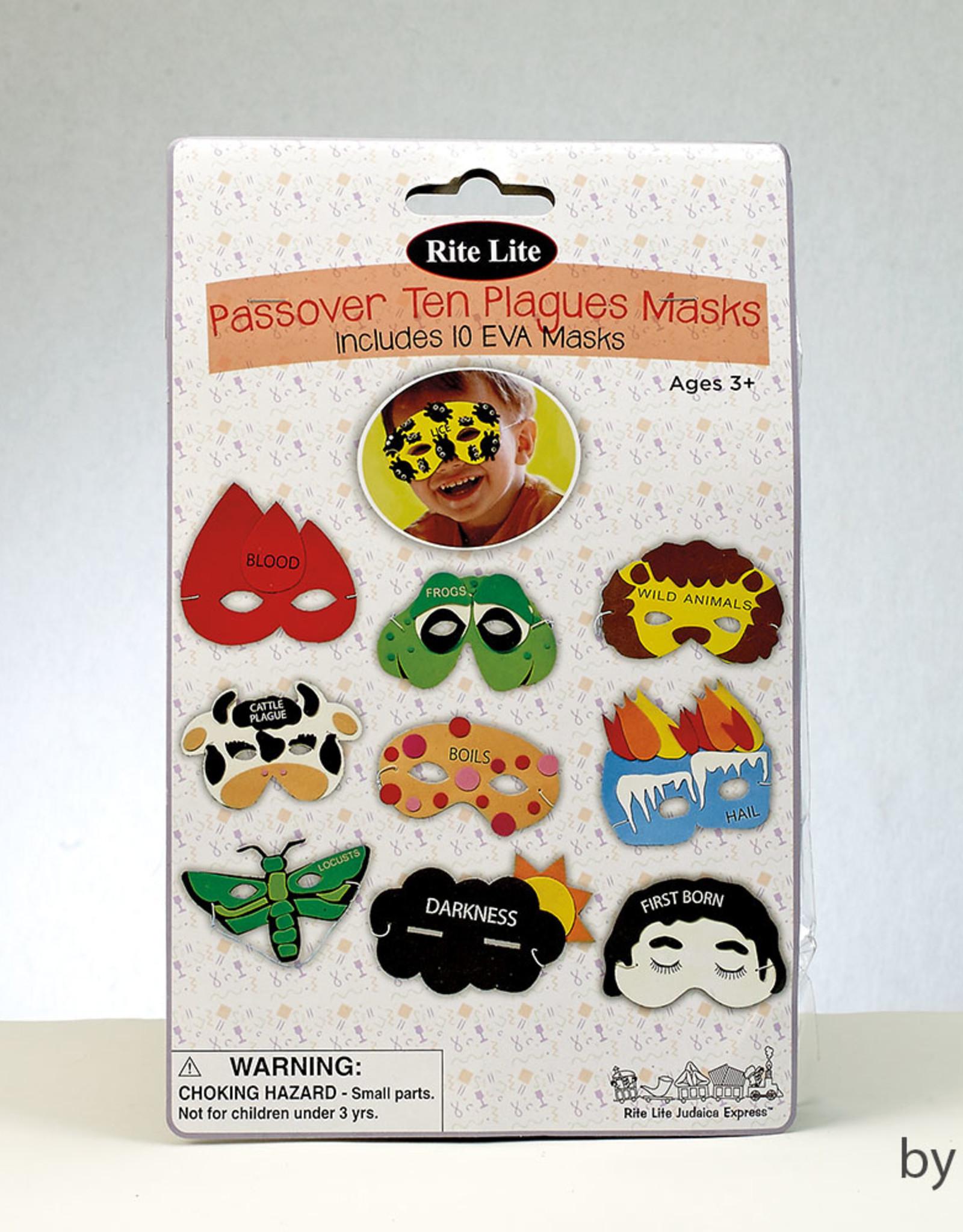Ten Plagues masks -set of 10