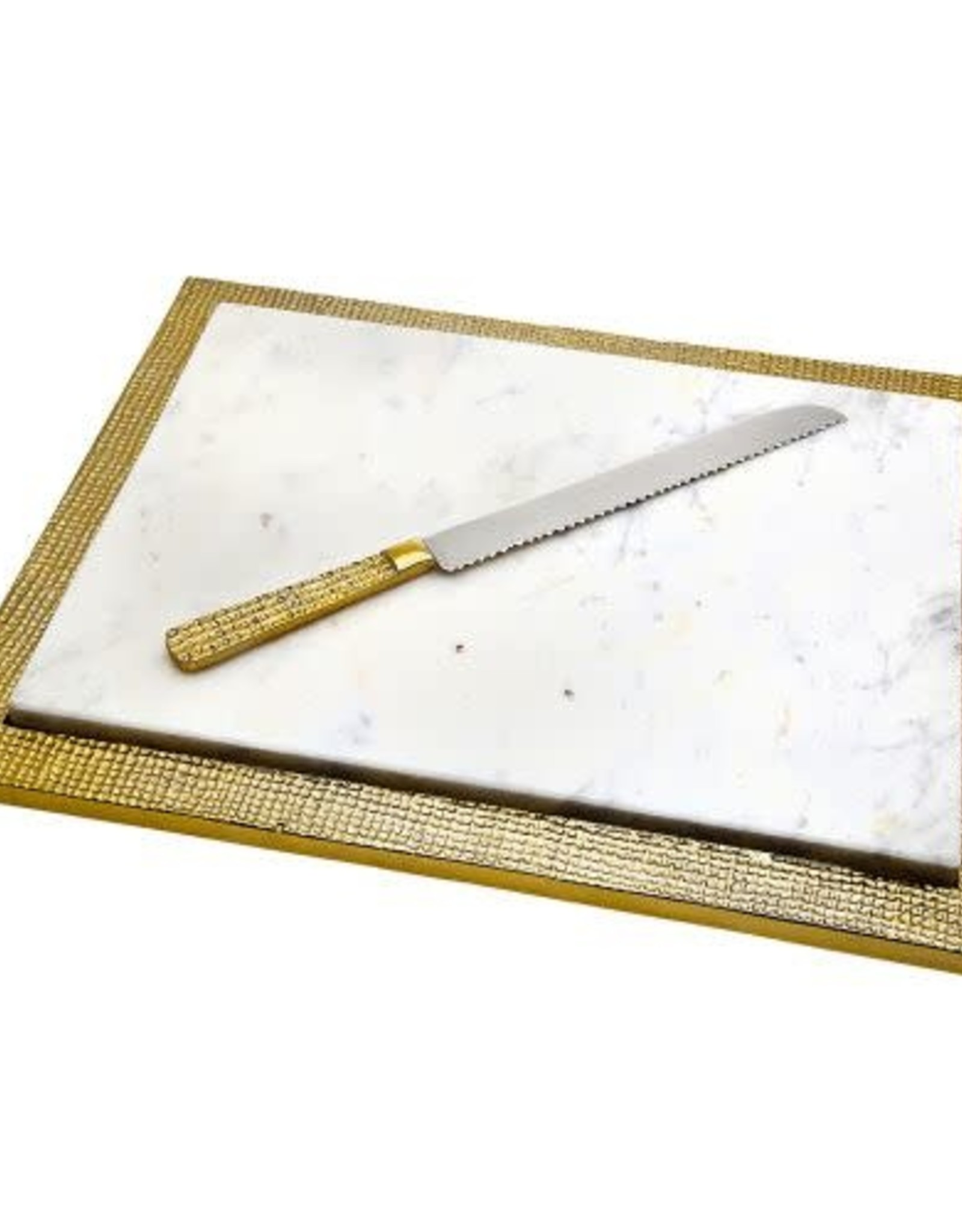 Challah board/knife marble