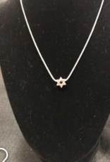 Necklace, Star of David slide on 16'' chain