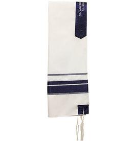 Tallis Viscose 20''x72'' - Blue/Silver