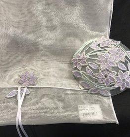 Tallit, Queen Esther - Purple w/Kippah and Bag