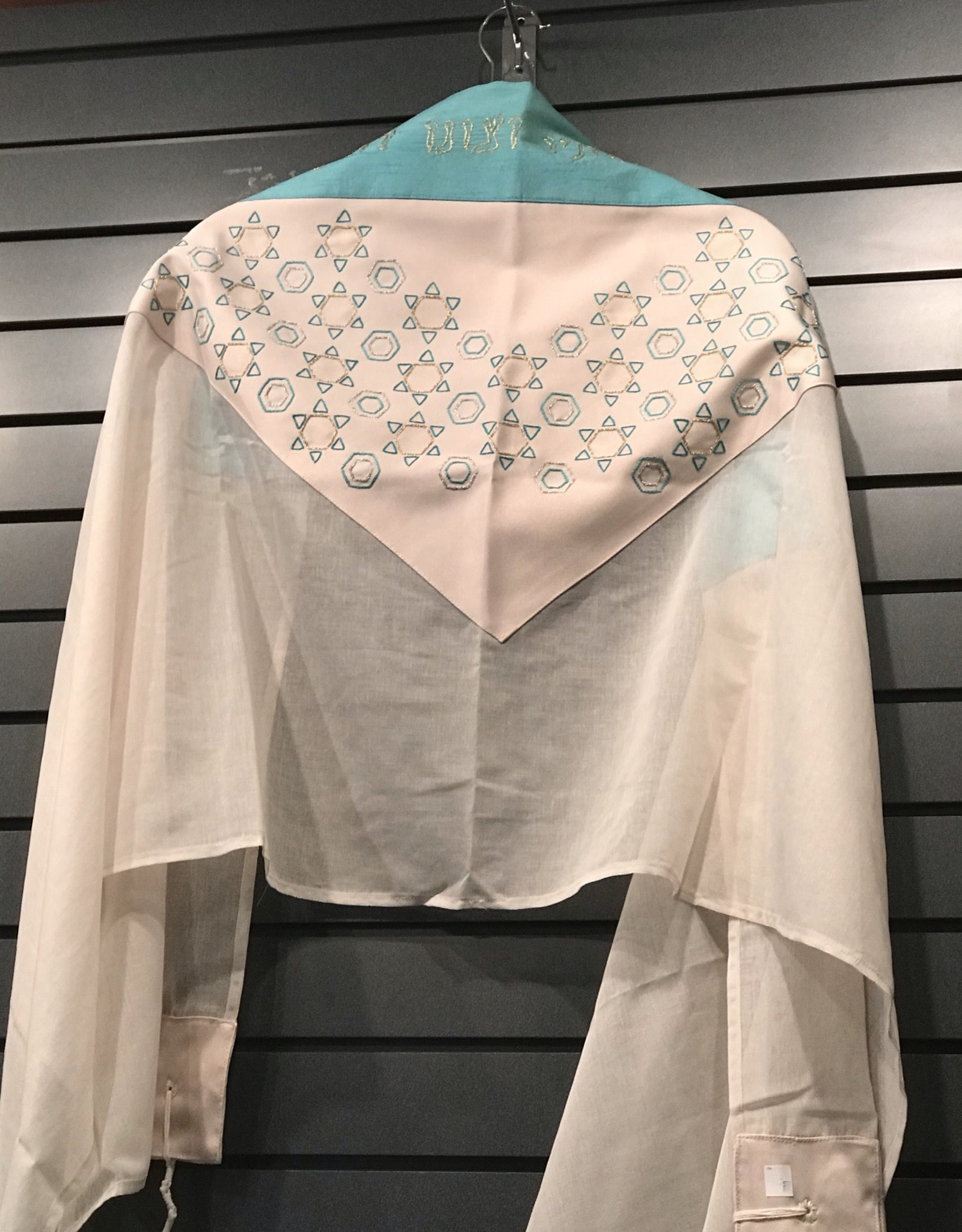 Tallit - hand embroidered silk made in Israel