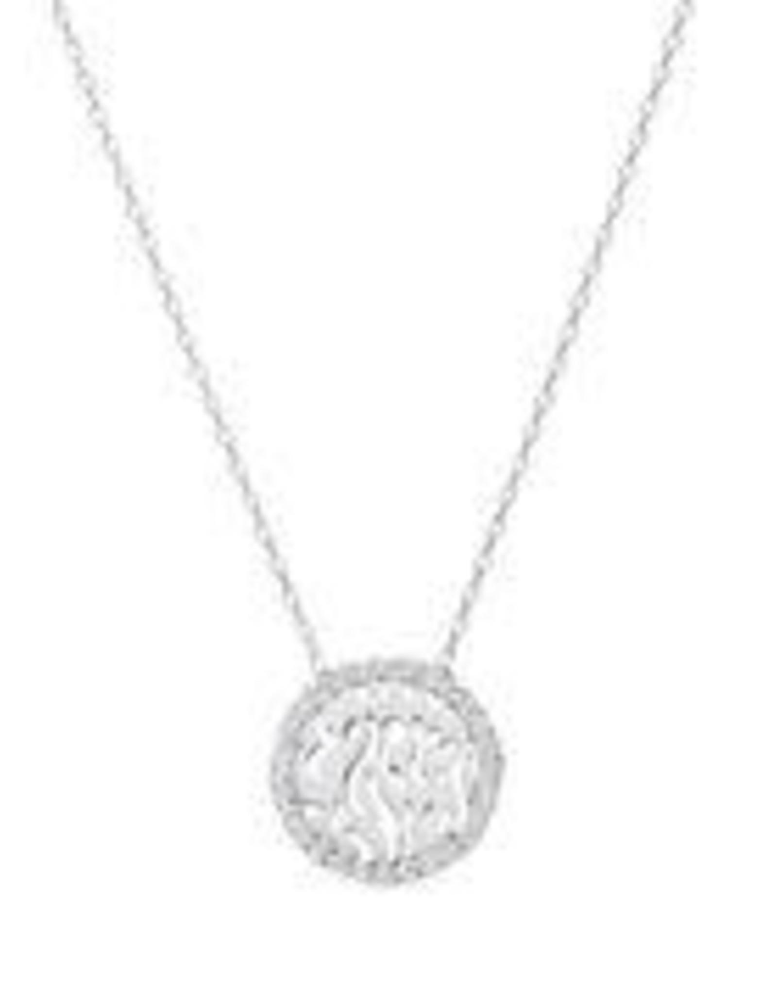 Pendant, Shema w/cz - silver