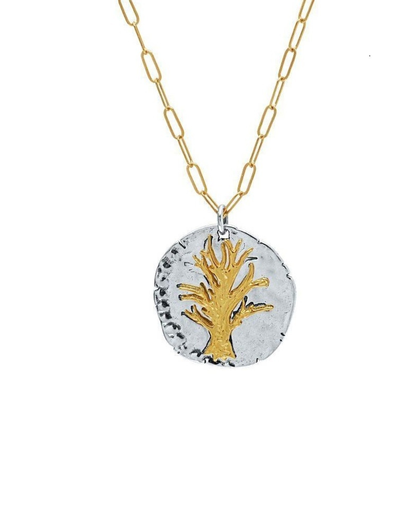 Necklace, Tree of Life Round