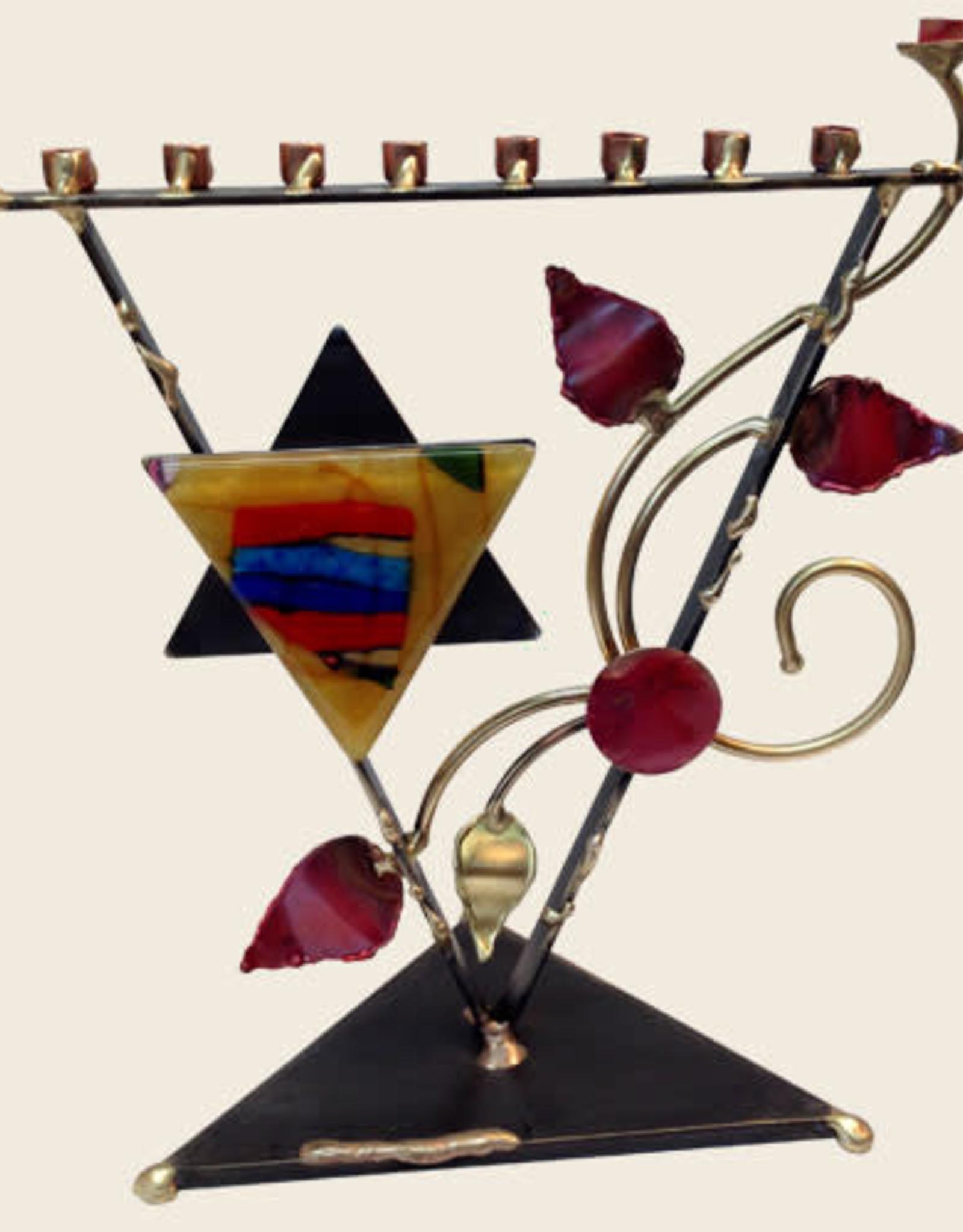 Menorah, Triangle Tree of Life with Star