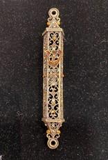 Mezuzah, Jeweled Filigree, Topaz