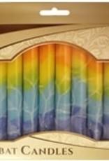 Candles, Safed Shabbat rainbow