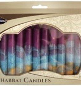 Candles, Safed Shabbat fuchsia/blue