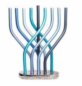 Yair Emanuel Menorah, Emanuel, Flame Blue large