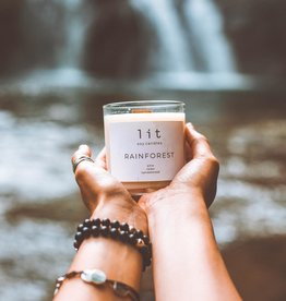Lit Soy Candle, Rainforest
