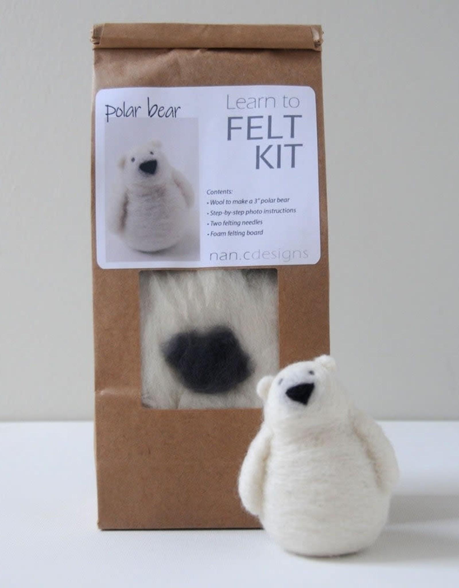 Nan.C Designs Polar bear felting kit
