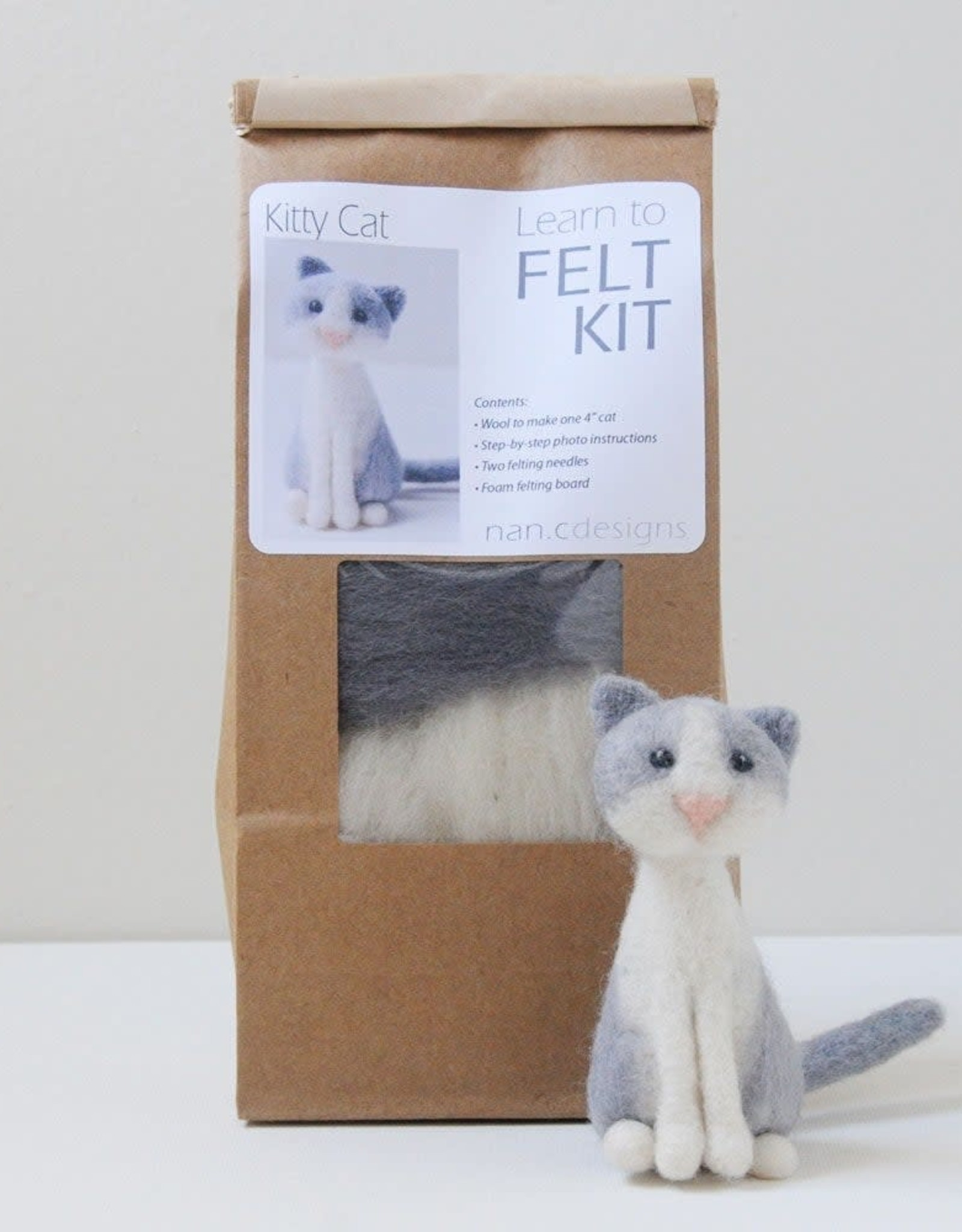 Nan.C Designs Cat Felting Kit