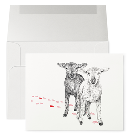 Petits Mots Petits Mots Card, Two Sheep