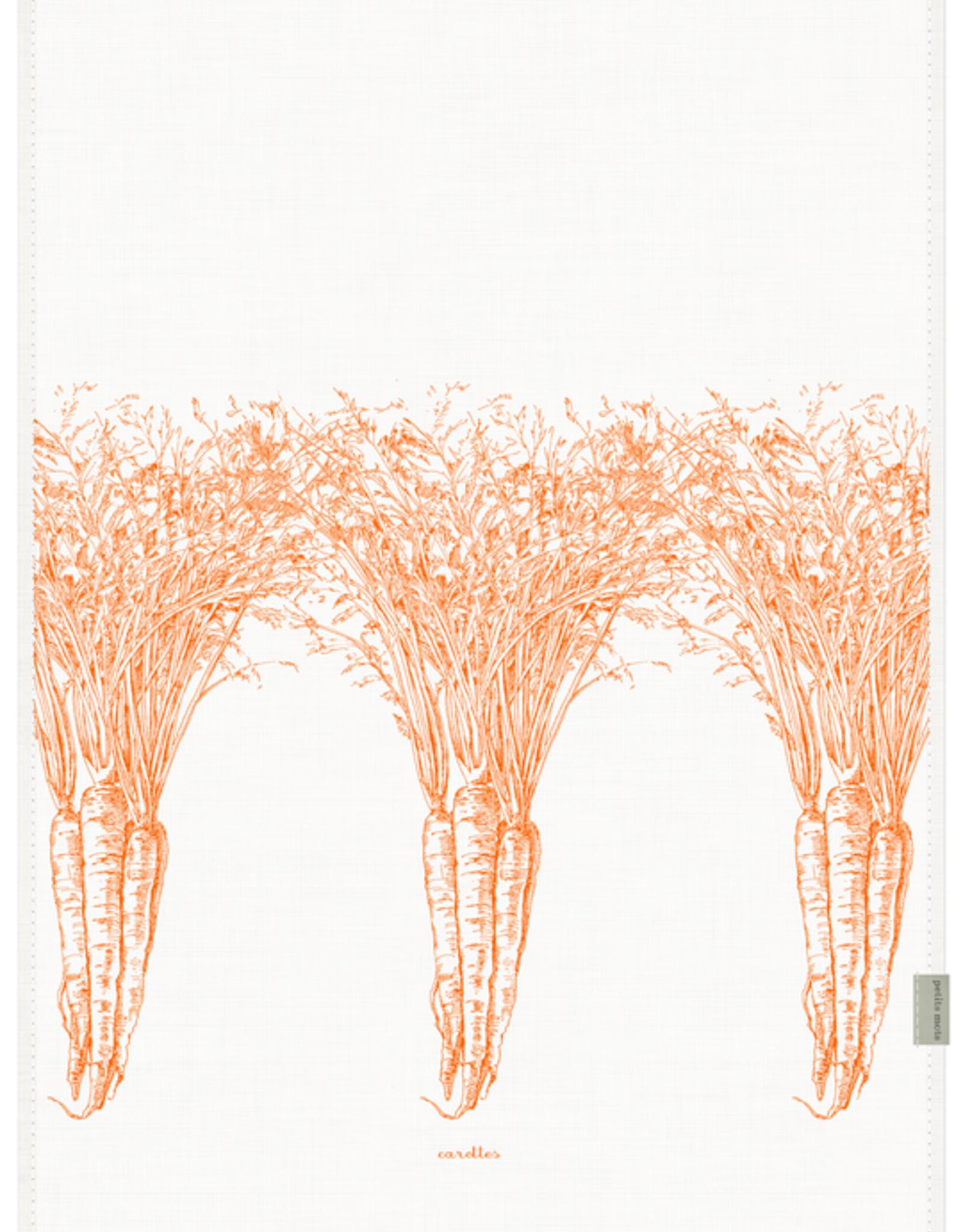 Petits Mots Petits Mots Linen Tea Towel, Carrots