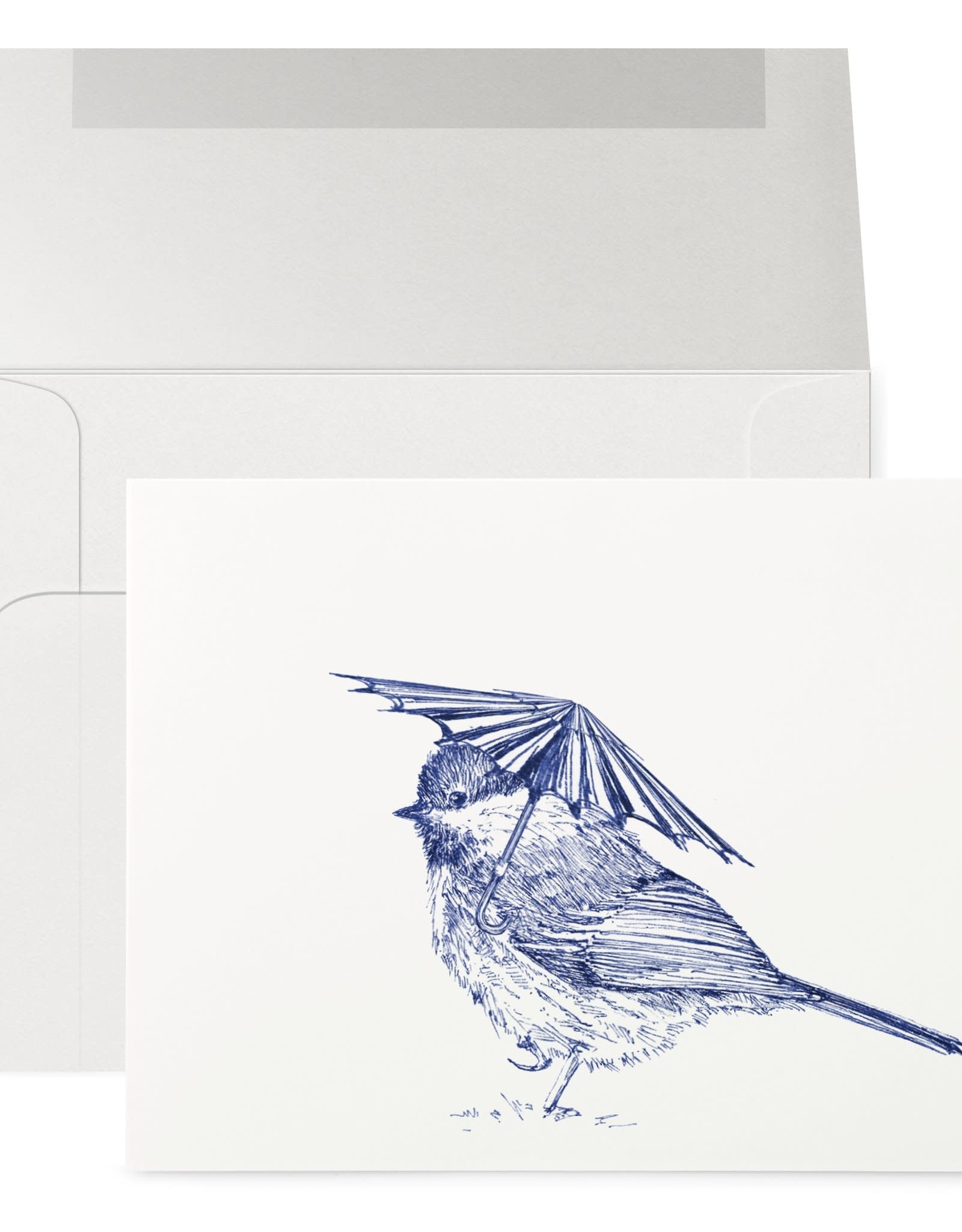 Petits Mots Petits Mots Card, Chickadee