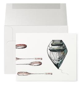 Petits Mots Petits Mots Card, Row Boat & Oars