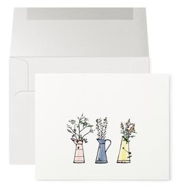 Petits Mots Petits Mots Card, 3 Vases