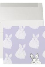 Petits Mots Petits Mots Card, Mauve Bunnies