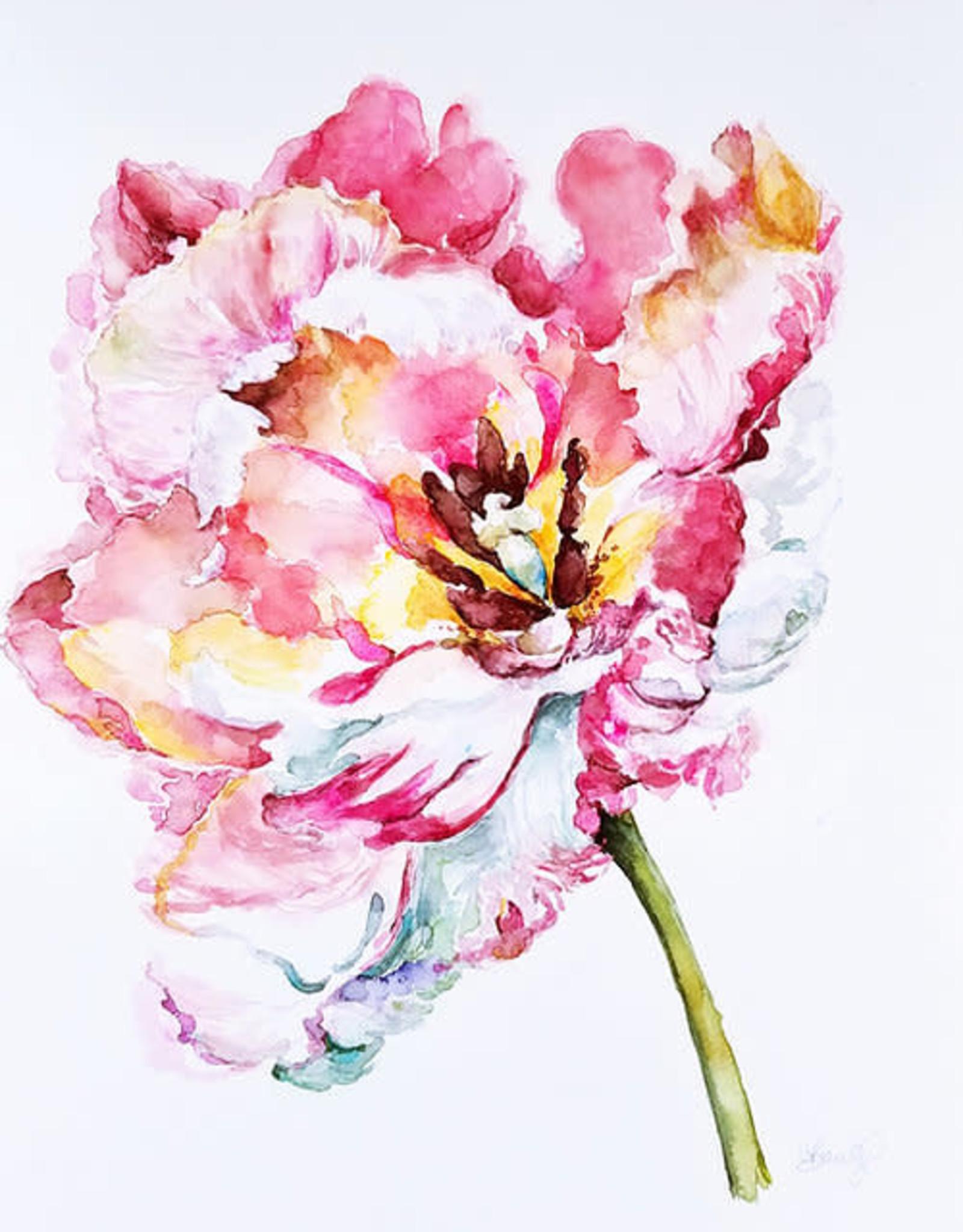 Coral Barclay, Framed Original Parrot Tulip