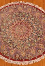 Bunyaad Red Kashan Silk Touch - Round 3.1x3.2