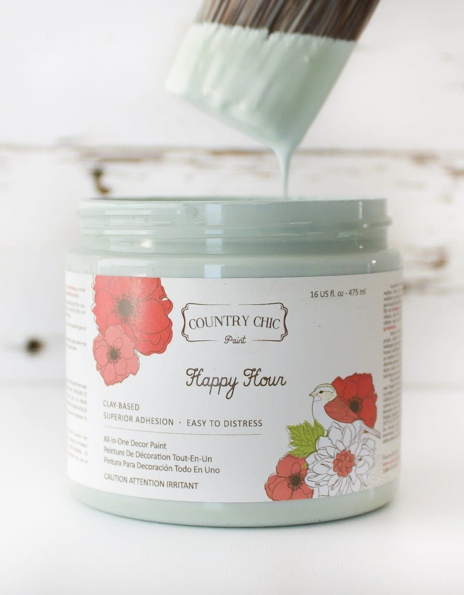Country Chic Country Chic Paint Pint - 16oz Happy Hour