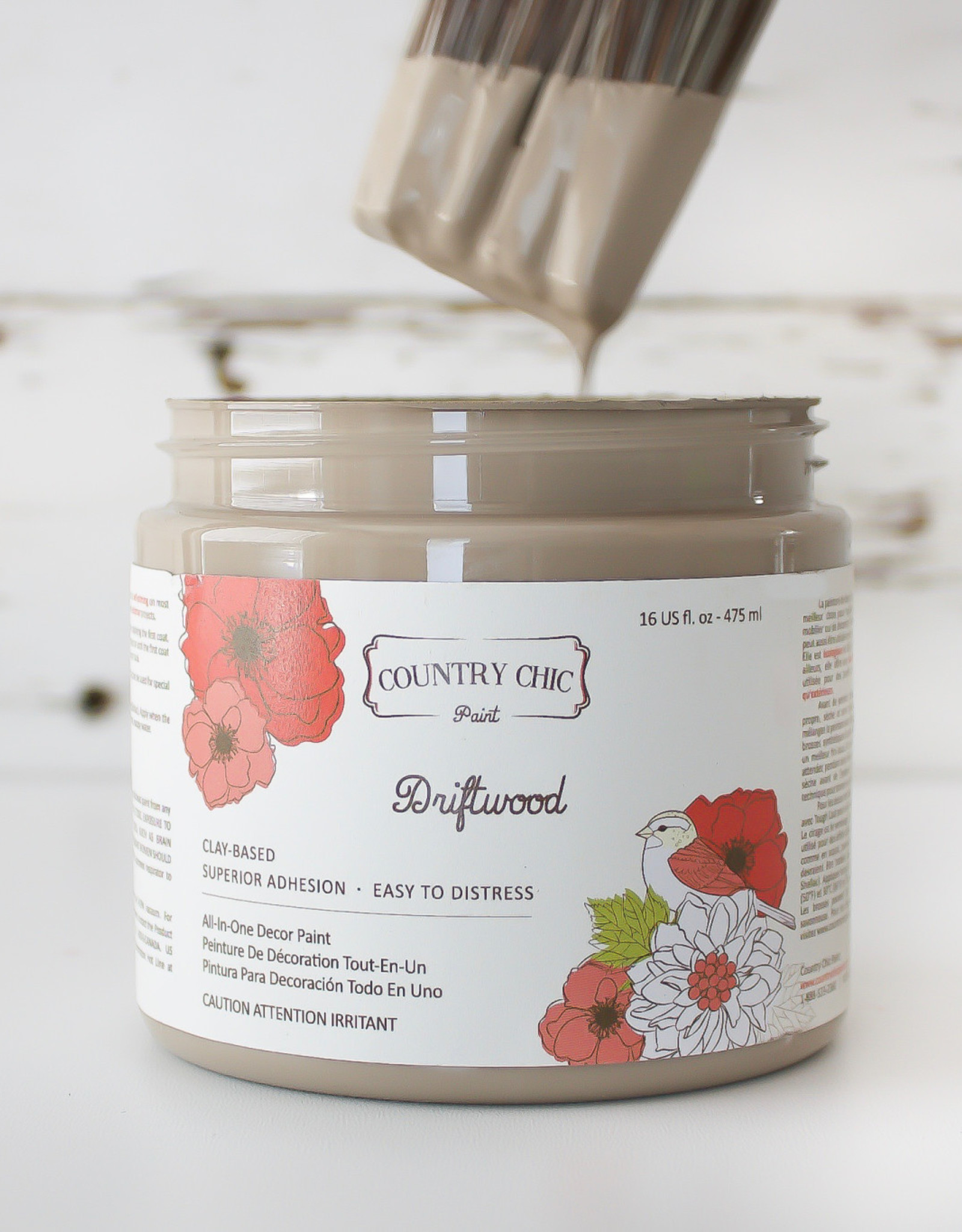 Country Chic Country Chic Paint Sample - 4oz Driftwood