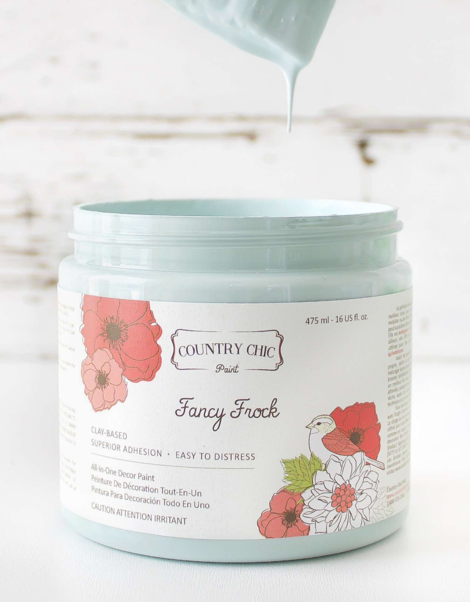 Country Chic Country Chic Paint Sample - 4oz Fancy Frock